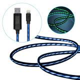5V 2A LED de luz intermitente Cable de datos USB del teléfono