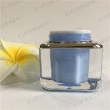 Vaso crema acrilico blu del quadrato 30g per l'imballaggio dell'estetica (PPC-ACJ-078)