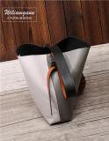 Bolsa de ombro em forma de bala de moda Bolsa de couro