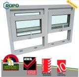 Finestra di UPVC, doppia finestra di telaio con il disegno della griglia