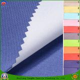 Tissu enduit imperméable à l'eau de rideau en arrêt total de franc de tissu de polyester tissé par textile pour le rideau en guichet