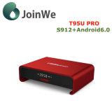 T95u intelligenter gesetzter SpitzenkastenAndroid 6.0 des Fernsehapparat-Kasten-2g 16g Fernsehapparat-Prokasten