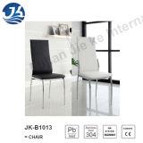 Zwart-witte Moderne het Dineren van het Roestvrij staal van de Kunstleer Stoelen (jk-B1013)