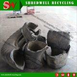 O cortador Waste hidráulico poderoso do pneu cortou os pneumáticos de tamanho grande da sucata Mine/OTR