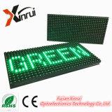 P10 Pantalla de visualización de texto de LED de color único de color verde