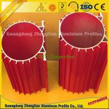 6063 kundenspezifischer großer Aluminiumstrangpresßling T5 6061 T6 für industriellen Kühlkörper