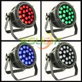 Schwarzes Licht DER DMX512 LED NENNWERT Lampen-UV+RGBWA 6in1 LED mit Herstellungskosten