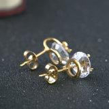 Boucles d'oreille de goujon de Bowknot d'acier inoxydable de bijou de mode pour les filles douces
