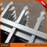 Cerco de aço galvanizado da segurança da parte superior da lança