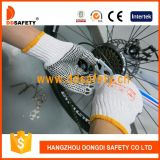 Ddsafety 2017 Bleach Knit Coton / Polyester String PVC Dots Working Guards