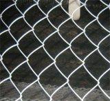 PVC recubierto de acero inoxidable de alambre de malla de cerca de la cadena de enlace