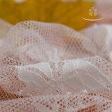 Tela francesa del cordón del cordón 2017 de la manera del diseño material nupcial blanco de la alta calidad