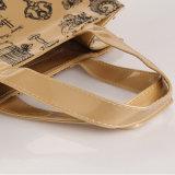 Sac à provisions imperméable en PVC pour sac à rayures en toile zippée (H011)