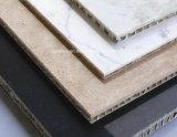 El panal de piedra natural artesona los paneles compuestos de piedra movidos hacia atrás panal