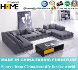 Софа ткани самомоднейшей домашней живущий мебели комнаты большая угловойая (HC566)