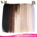 pelo Weft de la piel del pelo de Remy de la Virgen de 5A Ombre nosotros cinta en tramas rectas de las extensiones del pelo humano 16 20 colores 22inch 12 disponibles
