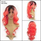 Form-beste Qualitätslange Haartn-Farben-Farben-hitzebeständige Faser-Perücke