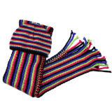Шарф способа вертикальные Striped и шлем (JRI064)