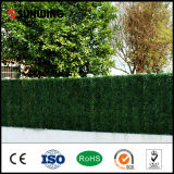 Petit Plastic Artificial Green Leaves Plant Lattice Fence pour le jardin