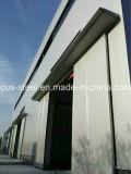 Magazzino prefabbricato d'acciaio del gruppo di lavoro della struttura d'acciaio della costruzione dell'indicatore luminoso dell'ampia luce