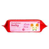 миниые упакованные Wipes младенца 35PCS с Siker или пластичной крышкой