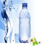 Botella plástica del pequeño animal doméstico que bebe la embotelladora de relleno del agua mineral