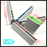 Côté mobile portatif universel 15000mAh de pouvoir avec le port USB 3