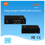 Snmp Managed GE 10/100/1000m Fiber Optic Media Converter
