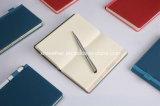 Cuaderno duro del diario de Writng del cuero del diario de la cubierta