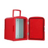 Mini refrigerador eletrônico 6liter DC12V, AC100-240V com refrigerar e aquecer-se para o carro, escritório, uso da HOME