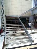 Escalier 2016 moderne en verre d'acier inoxydable du matériau 304 de Hua de ka