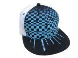 Stickereiflache Hiphop-Hysteresen-Baseballmütze des Form-kundenspezifische Firmenzeichen-3D