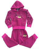 Childrenの冬Fleece Kids Girl Sports Wear Suit 「s Clothes Swg135