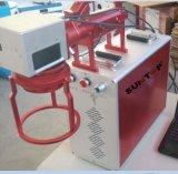 Velocidad mini etiqueta de plástico portable de mano del laser de la fibra de 20 vatios para el marcado de las piezas grandes y pesadas
