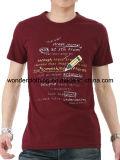 T-shirt fait sur commande en gros chaud de mode de coton de l'impression des hommes