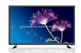 USB HDMI Anaglog TV/Digita TV de film de soutien de HD Ready de télévision de l'affichage LED d'affichage à cristaux liquides de 32 pouces facultatif