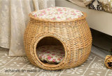 Ninho confortável de bambu Handmade do gato
