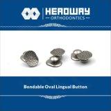 Orthodontische zusätzliche Taste, ovale gebogene sprachliche Taste