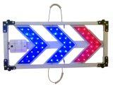 Signe en aluminium Rouge-Bleu de flèche de sens de circulation de DEL