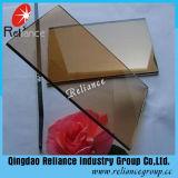 vidrio de flotador de bronce euro de 4m m -12mm/color teñido bronce del vidrio/Brown de cristal