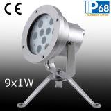 IP68 9W LED Unterwasser-Spot-Licht, LED-Unterwasser Brunnen-Licht