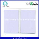 Широко используйте карточку пробела RFID размера Cr80 классицистическую белую