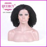 Peruca Curly Kinky do laço da densidade da peruca 130 do laço da parte dianteira do cabelo humano da peruca do Afro brasileiro do cabelo do Virgin para mulheres pretas