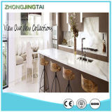 Quartz machiné Stone Calacatta Glass Countertops pour Kitchen et Bathroom