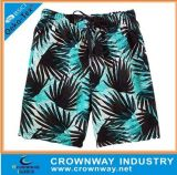 Men Sublimation Printing Custom Beach Shorts Board Shorts com 4 Way Stretch Fabric