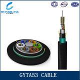 Cable óptico acorazado metálico trenzado GYTA53 caliente de fibra del tubo flojo de las ventas