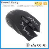 Ergonomische optische verdrahtete Spiel-Maus Entwurfs-kundenspezifische Firmenzeichen Soem-6D