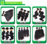 Отсутствие волос смешивания и польностью нижней девственницы перуанских людских курчавых