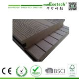 Decorative Embossed WPC Decking Floor / Outdoor Solid WPC Flooring