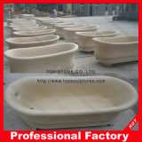 Mano Carved Stone Marble Bathtub per Bathroom